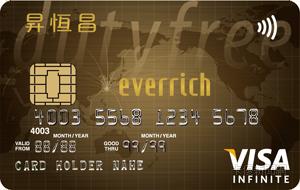 昇恒昌聯名卡VISA無限卡