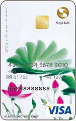 荷花卡VISA金融卡VISA普卡